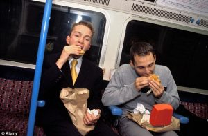 Some people love to eat stinky food in public vehicles