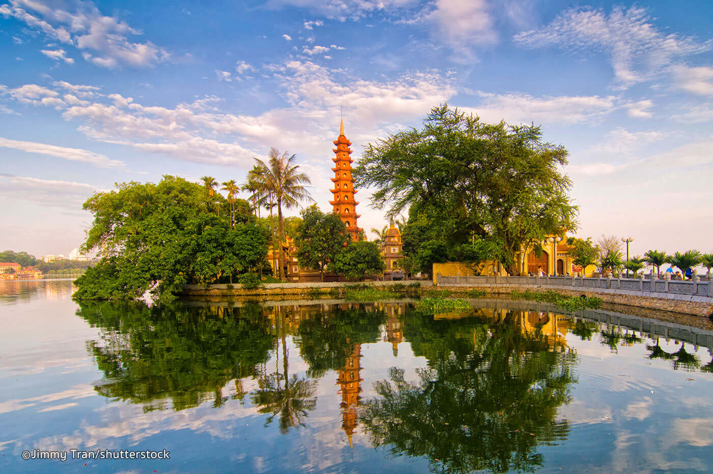 Tran Quoc Temple by West Lake, Hanoi. - Source: Shutterstock
