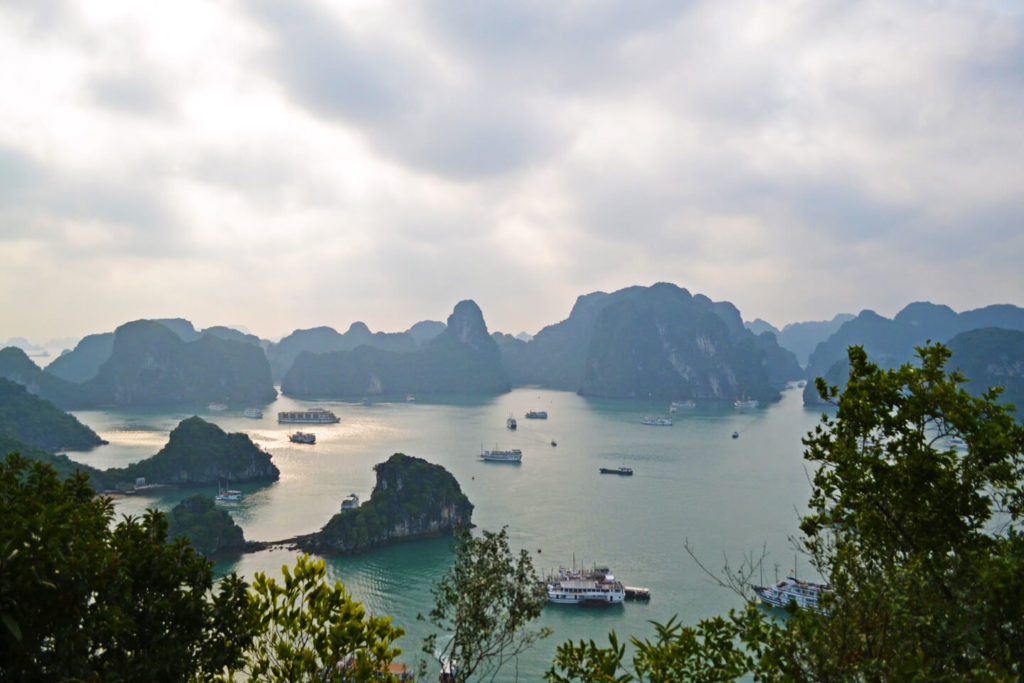 Ha Long Bay from the viewpoint on Titov Island