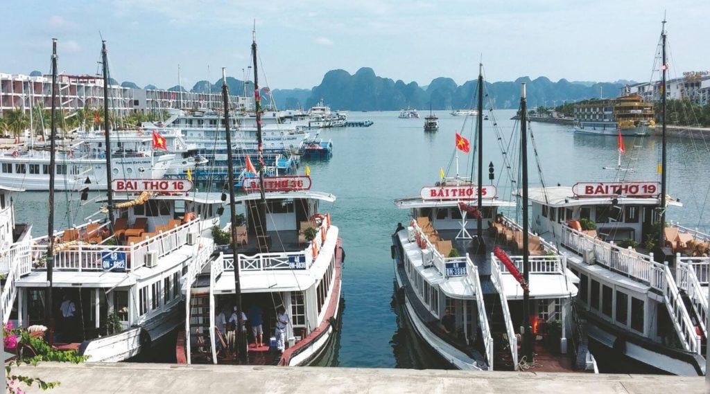 Tuan Chau port in Ha Long Bay.