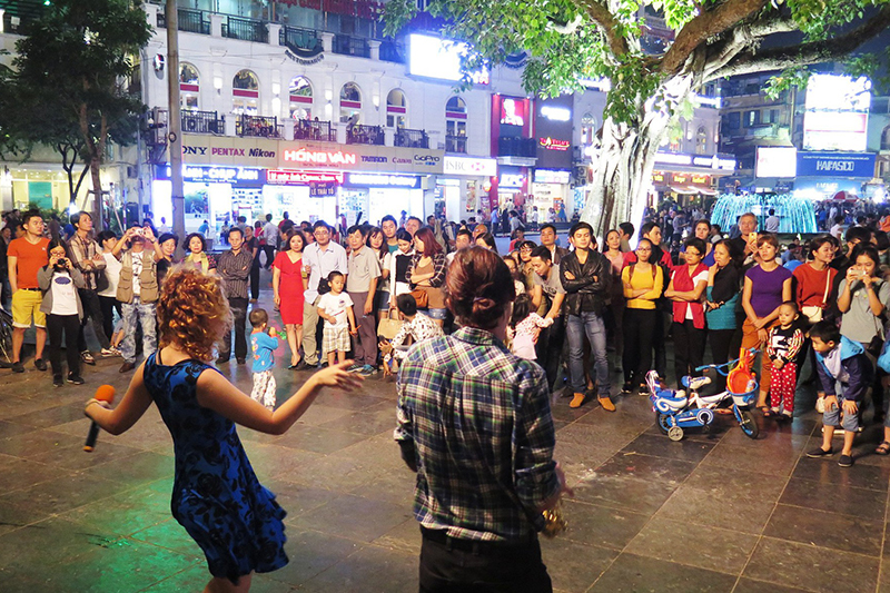Live band performance at Walking Street